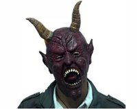Wholesale Masquerade Masks Horns - Cow Devil Mask Horn ,Creepy Cow Mask Head Novelty Latex Rubber Masquerade Halloween Masks Free Shipping