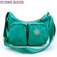Wholesale Waterproof Bird Handbags - Wholesale-FLYING BIRDS! women messenger bags for women handbag bag waterproof shoulder bag ladies sport pouch free shipping LS4343fb