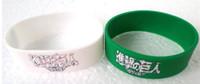 pulseiras de silicone preto venda por atacado-Ataque em Titan Pulseira, 1