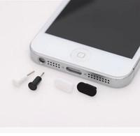 ingrosso iphone anti plug-Spina porta dati + Tappo per porta cuffia spina per tappo antipolvere per iPhone 5 5s 6 6s 6plus
