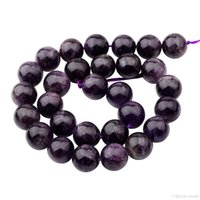 Wholesale Spiked Jewellery - Hot Sales Natural Real Amethyst Beads 14MM loose stone jewerly beads for diy fashion women jewellery free shipping