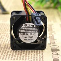 подвеска с вентилятором 12v оптовых-Оптовый: SANYO 12V 0.28A 4CM 40 * 40 * 28 109P0412B303 3 провода шарикового подшипника вентилятор охлаждения