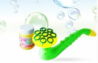 Wholesale toy bubble guns - The supply of new horn blowing bubble toy gun Sax bubble bubble water children toy group
