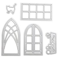 Wholesale Diy House Tools - DIY dog lace cutter Lace windows Scrapbook Die house 3935
