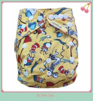 Wholesale printed 2xl diaper resale online - 2015 New Design Cartoon Prints Newborn Cloth Diapers Washable Without Insert Nappies
