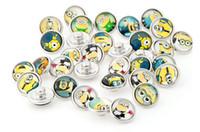 ingrosso fit minion-popolare Super papà Serventi fai da te bottone a pressione 12mm bottone a pressione jelwery fit per braccialetto mix vetro noosa button button fashion acceesories