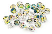 seqüestro de ajuste venda por atacado-Popular Super papai Minions diy botão snap 12mm snap botão jelwery apto para pulseira mix de vidro noosa botão botão moda acceesories