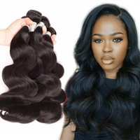 HOT BEAUTY HAIR Unprocessed Peruvian Malaysian Brazilian Virgin Hair Body Wave Bundles 3 PCS Extensões de cabelo humano Retail Wholesale