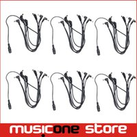 Wholesale Electrode Adapter Cable - 6psc VITOOS Harness Guitar Cables Black 6 Ways Electrode Daisy Chain Cable For Guitar Pedal Effect Power Adapter MU0663