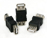 Wholesale Changer Adapter - Free Shipping Good quality USB A Female to A Female Gender Changer USB 2.0 Adapter 100pcs lot