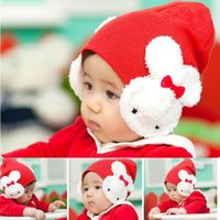 Wholesale Head Cap For Newborn - New Cotton Knitted Baby Hats infant Caps Beanies Animal Head Accessories Winter Hats for Newborn Baby Christmas Gift