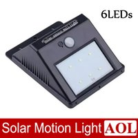 Wholesale Mailbox Wholesalers - Bright LED Wireless Solar Powered Motion Sensor Light Waterproof 6 LEDs Outdoor Corridor Entrance door Mailbox Garden Fence Park Wall Lamp