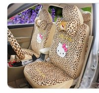 Wholesale Gold Car Seat Covers - 18PCs Hello Kitty Universal Auto Car Seat Covers Two colors available