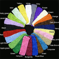"Wholesale Crochet Hair Bands For Babies - 1.5"" crochet headbands baby hair bands high quality cheap hair accessories for girls"