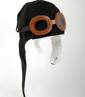 Wholesale Black Pilot Cap - Baby hats Children pilot hat Baby earflaps beanie Kids airforce cap Infant winter warm caps Headwear 10pcs