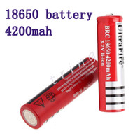 Wholesale Ultrafire Flashlights Cell - 18650 3.7v 4200mAh UltraFire Rechargeable Lithium Li-ion Battery cell for Electronic Cigarette LED bike Flashlight