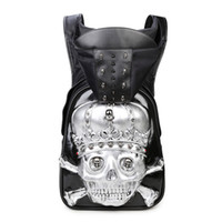 Wholesale artistic leather - 3D cap unique artistic personality silicone fashion originality travel bags for international leather travel girly backpacks for high school