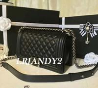 Wholesale Le Purse - hot BLACK LAMBSKIN LE women SHOULDER BAGS PURSE high quality Women messenger Bags Famous Designer Brand Women handbag 2 size