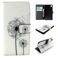 Wholesale Aquaris Flip - dandelion Pattern Fashion Flip PU Leather Cover For BQ Aquaris E5 Case 4G 5 inch Wallet with Stand And Card Holder Mobile Phone Bags