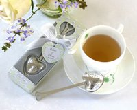 Wholesale Tea Box Sale - Hot Sale Tea Time Heart Tea Infuser Heart-Shaped Stainless Spoon Filter Tea Infuser Free DHL Shipping