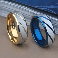 316L Stainless Steel Superman Finger Rings Les blueornaments de titane acier de bleu Hommes