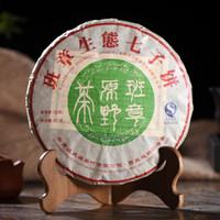 yunnan pu er tea al por mayor-Pu'er tea 2014 cake Té crudo Ban zhang wilderness China tea Yunnan siete sub-cake 357 g green food