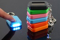 Wholesale Solar Powered Light Key Chains - Portable Solar Power Keychain 3 LED Flashlight Light Lamp Mini Key Chain Multi-color Rechargeable solar lights Christmas Gift