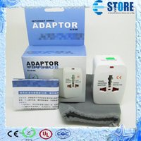 Wholesale universal power extension - LOWEST PRICE 200pcs lot World Universal AC Power Converter Adapter International Travel Adaptor Plug EU US UK Extension by DHL FEDEX,wu