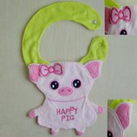 baberos de bebé diseños de animales al por mayor-12 diseños Baberos de dibujos animados para bebés Animales BIBs Bebés y bebés Baberos de bebé Baberos Burp