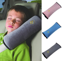 Wholesale Car Neck Cushion Pillow Covers - Baby Children Car Auto Safety Seat Belt Soft Harness Shoulder Pad Cover Children Protection Covers Cushion Support Pillow Seat Cushions