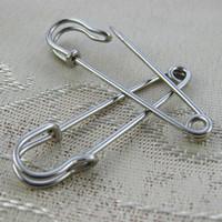 Wholesale Kilt Wholesale - 50mm Rhodium brooch pin Safety findings Vintage shawl garment Kilt needle jewelry making adhesive holder composant et decouverte de bijoux