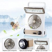 Wholesale Solar Table Fan - Portable Fan 3 in 1 Multi-function Mini Fan LED Table Lamp Flashlight Solar Light for Home Camping Solar Fan for Outdoor