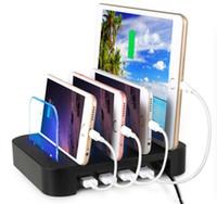 evrensel yerleştirme istasyonları toptan satış-4USB Akıllı Ve Hızlı Şarj Istasyonu Ayrılabilir Evrensel Çok Portlu USB Şarj İstasyonu, 24W 4-Port USB Şarj Dock