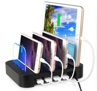 Wholesale Multi Docking Station - 4USB Smart And Quick Charging Station Detachable Universal Multi-Port USB Charging Station, 24W 4-Port USB Charging Dock