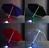 Led Flash Light Rain Night Light Led Ombrello Adulti Bambini Supporto per luci lampeggianti Roller Antivento Illuminazione Laser Sword Style Ombrelli