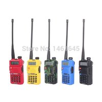 Wholesale Station Dual Band - Wholesale-UV 5R Portable Radio Two Way Radio Walkie Talkie 10km Baofeng UV-5R for vhf uhf dual band ham CB radio station Original Baofeng
