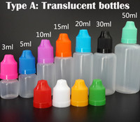 Wholesale Plastic Bottles Prices - Needle bottle 3ML 5ML 10ML 15ML 20ML 30ML 50ML PE PET Empty E Liquid E juice dropper Bottle with Childproof Caps factory price