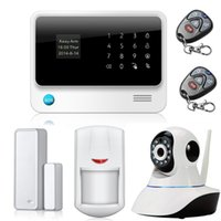 Wholesale Gsm Camera Alarm Systems - English Spanish French Smart Home Wireless GPRS GSM  WiFi Alarm System With Camera, Android IOS APP