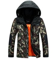 Wholesale Korean Knit Jacket - Men's fashion warm winter white duck down new cultivate one's morality even cap in the Korean version camouflage jacket coat. M - 3xl