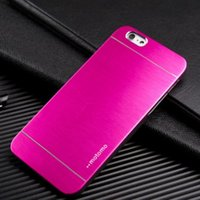 Wholesale Aluminium Back Cover - For Samsung S8 Luxury Ultra thin Motomo Brushed Aluminium PC Back Case Cover Metal Skin Protector Shell for iphone 7 plus 6s Samsung S6 S7