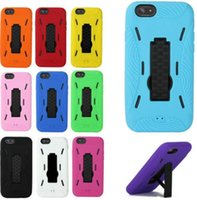 Wholesale Iphone Case Efit - Robot 2in1 Hybrid soft Silicon Hard TPU+PC efit Case Holder Stand back Skin cover Cases for iPhone 6 (4.7inch)