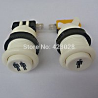 Wholesale Arcade For Xbox - 1pair with American Arcade start button with microswitchs Player 1,2 LOGO 1P or 2P button free shipping