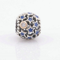 Wholesale Stardust European Beads - stardust beads sterling silver star jewelry fits for pandora style bracelets S925 sterling silver free shipping European hot sale LW412