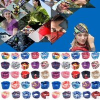 Wholesale Wholesale Tie Dye Veil - Mens Women Biker Bandana Head scarfs Multifunctional Headband Outdoor Sports Turban Magic Veil Bicycle Seamless Scarves 0061