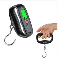 Wholesale Balance For Weighing - 50kg   10g Mini Portable Electronic LCD Hanging Scale Digital Luggage Weighing Scale Weight Balance for Kitchen Household