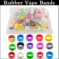 Wholesale E Cigarette Mod Accessories - Silicon rubber band vape ring e cigarette accessories for mechanical mods decorative and protection vape mod 18650 22mm mod rda rba atomizer
