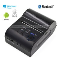 Wholesale Pos Dot Matrix Printers - Bluetooth POS Thermal Receipt Printer Printer Battery Display for IOS Android WP