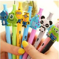 Wholesale Pen Deco - cartoon animal deco office stationery ballpoint pens for students   high quality ball-point pen with retail box 4pcs lot ARC426