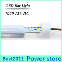 LED Bar Light 50cm 36leds DC 12V led Rigid strip SMD 7020 led tube Com perfil de alumínio e PC Cover