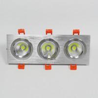 ingrosso doppio led downlights-TRASPORTO LIBERO Dimmable 2x10W / 3x10W doppio quadrato LED Downlights COB chip 3 anni di garanzia Bianco caldo / bianco freddo illuminazione interna